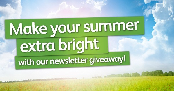Make your summer extra bright with our newsletter giveaway