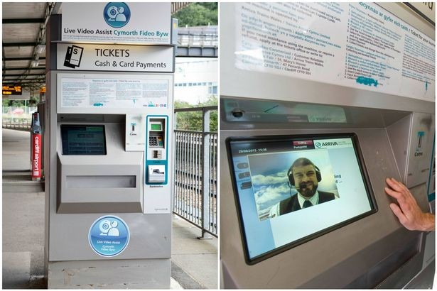 Arriva Trains Wales trial video ticket machines