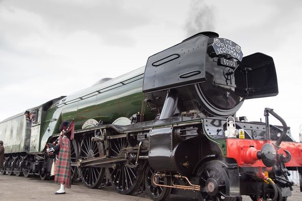 Flying Scotsman steams into Wales for luxury whistle-stop tour