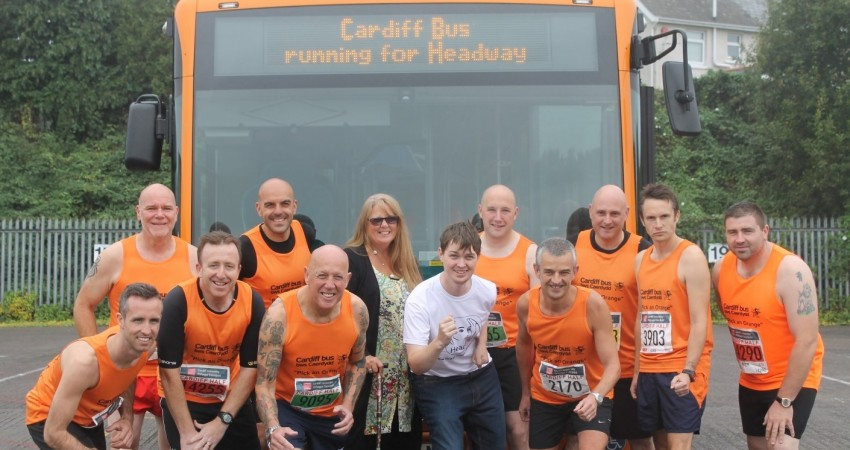 Cardiff Bus running for Headway