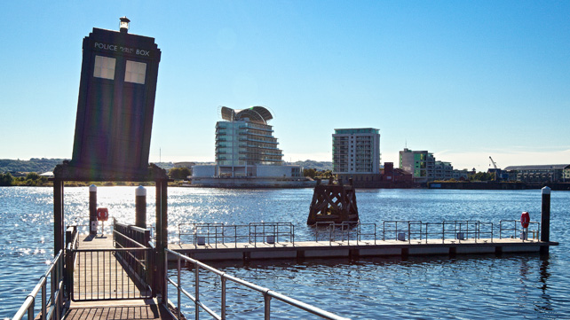 Dr Who Tardis at Cardiff Bay